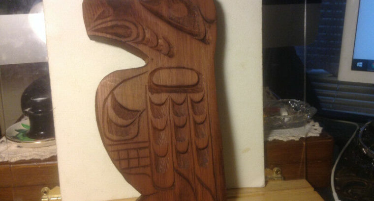Vintage WEST COAST First Nation Native Canada Indian Wood Carvin