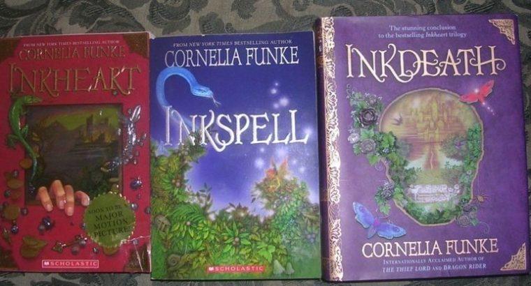 Set of books Inkheart Trilogy by Cornelia Funke (unread copies)