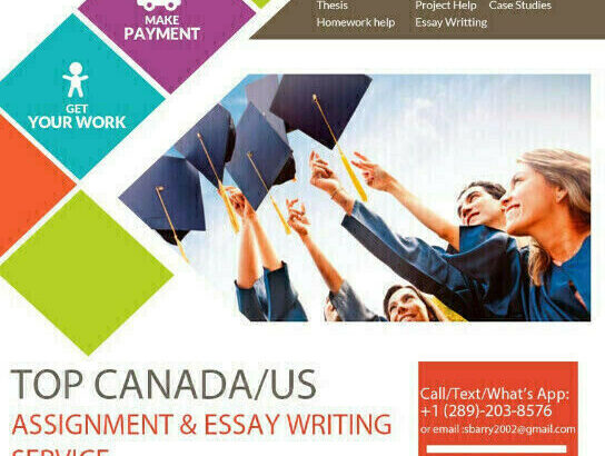 Canadian essay writers and assignment help for you