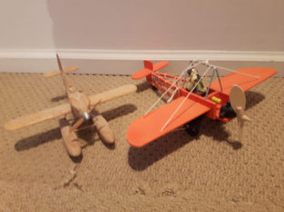 2 Old Wooden Airplane model