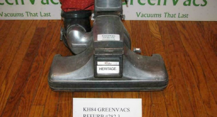 KIRBY HERITAGE VACUUM + FREE SHIPPING + WARRANTY CLEANS LIKE NEW PRO REFURB WASHED BAG NEW BELT, PAPER BAG, LIGHT BULB