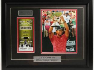 Tiger Woods 2007 FedEx Championship Framed Display