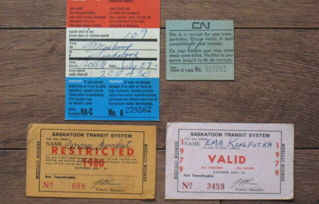 Vintage Railway and Bus Tickets