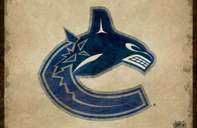 Vancouver Canucks Classic Ticket Framed Canvas Print (New)