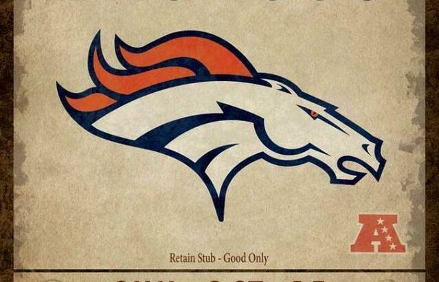 Denver Broncos Classic Ticket Canvas Print (New)