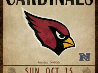 Arizona Cardinals Classic Ticket Canvas Framed Print (New)