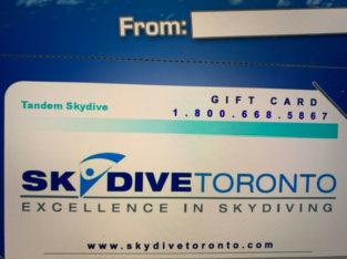 Skydive Toronto Gift Certificate!