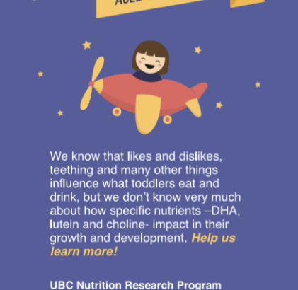 UBC Toddler Nutrition Research- Surrey Participants wanted!