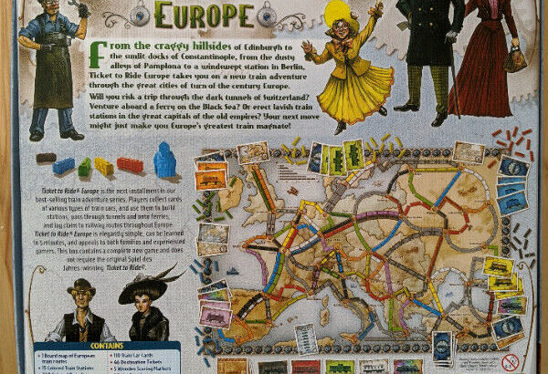 Ticket to Ride Europe board game