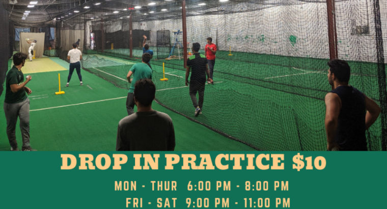 Drop In Cricket Practices at SOFF! Everyone is Welcome!
