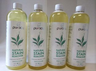 New, Puracy Natural Stain Remover, Free & Clear, 25 fl oz (739 ml)