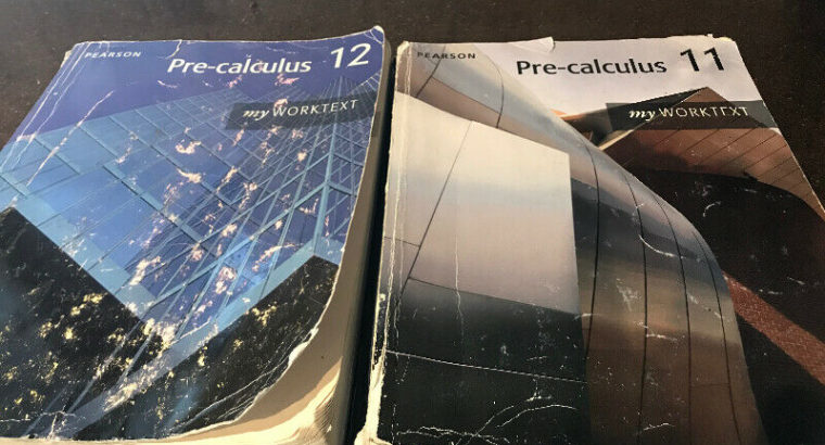 Pre calculus 11 and 12 books