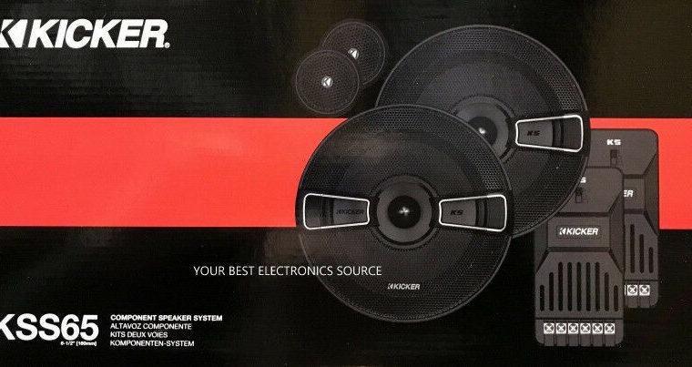 Kicker – KS Series 6.5″ 2-Way Component Car Speakers-NEW IN BOX