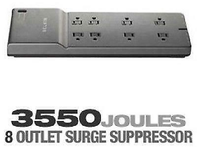 BELKIN 8-Outlet – 3550 Joules – 6 ft. Low-Profile Cord Surge Protector – BE108230-06