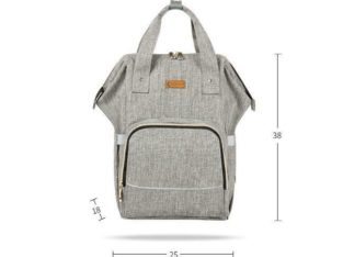 Diaper Bag Backpack for Boys and Girls Maternity Nappy Bag for Mom and Dad (Grey) – free shipping
