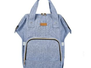 Diaper Bag Backpack for Boys and Girls Maternity Nappy Bag for Mom and Dad (Light Blue) – free shipping