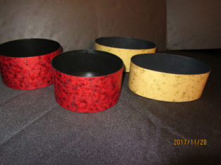 FLORAL CONTAINERS – 2 Gold and 2 Red NEW!