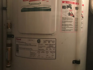 Giant Electric Top Flow 40 Gallon Water Heater