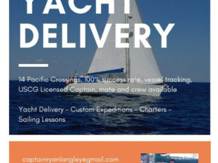 Sailing Charters, Lessons or Yacht Delivery!