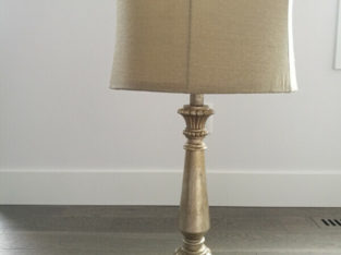 TABLE LAMP & SHOE RACK
