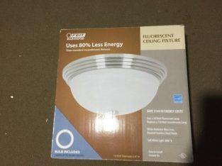 4 New Ceiling Light Fixtures