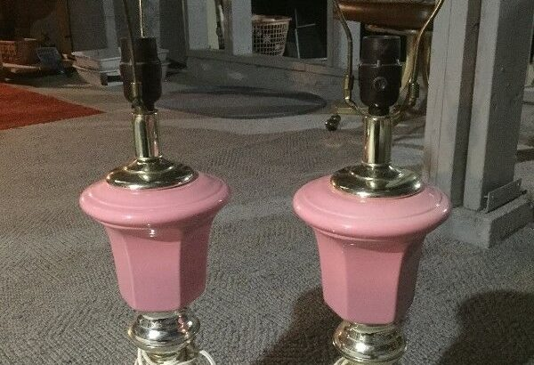 Pink and Gold Table Lamps