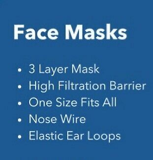 Face masks delivered to your door. $75 per box of 50