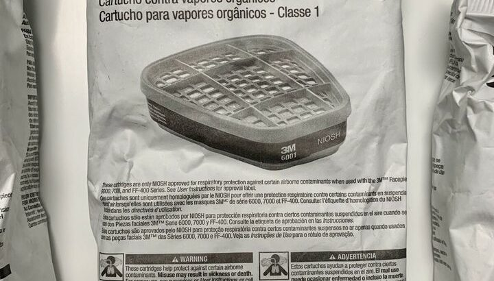 3M Half Face (6000 series) Respirator + 3M Cartridges