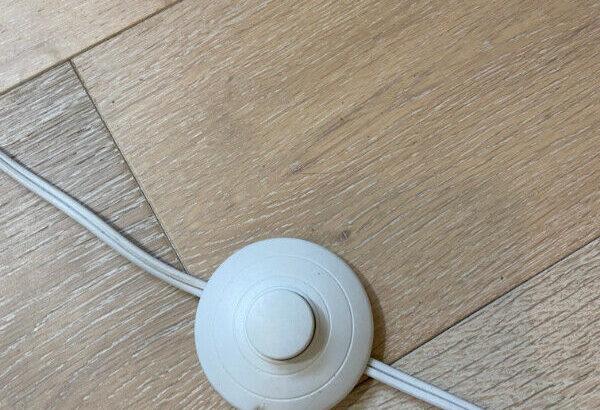 structube tall white lamp