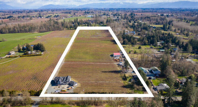 14.98 ACRES WITH 2 HOMES AND BLUEBERRY FARM
