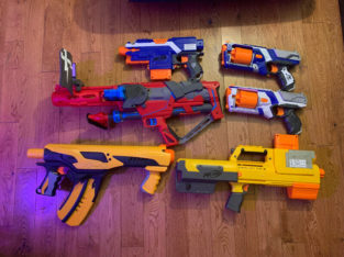 Almost new nerf guns!