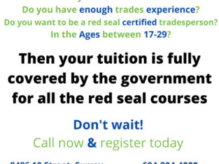 Free Funded Red Seal Courses for BC Residents