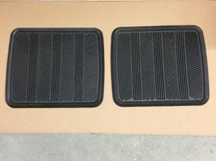 Pair of Heavy Duty Floor Mats for Back of Cars SUV Trucks Pants