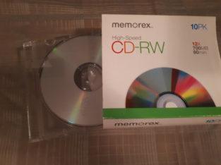 CD-RW pack of 5