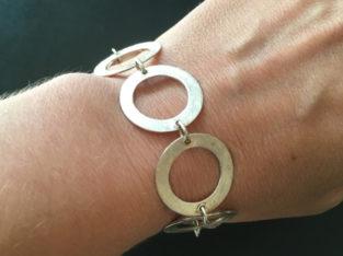 Unique silver link bracelet