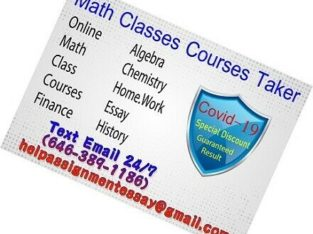 Professional Online Courses Taking Service Finance Math Classes