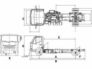 2019 Hino 195 Hybrid Class 5 – GVW of 19,500 lbs / 8,850 kg