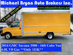 2014 GMC SAVANA 3500 – 16FT CUBE VAN / BOX TRUCK *ONLY 111K