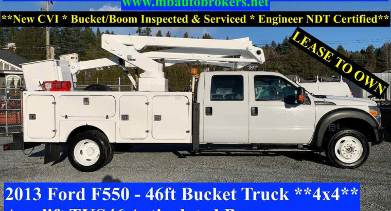 2013 FORD F550 – 46FT BUCKET TRUCK *4X4* CREW CAB * VERY RARE