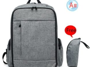 Baby Backpack Diaper Bag with Unisex Design – Grey – Dad Diaper Bag/Backpack- Ship accross Canada