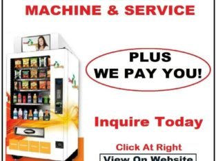We Pay Profit Sharing To Place A Free Vending Machine In Your Business, Office, Club or Studio etc.