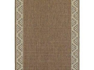 Ophelia & Co. Lachapelle Ikat Flatweave Espresso Indoor/Outdoor Area Rug