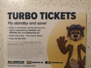 3 x Turbo Tickets Harbour Air