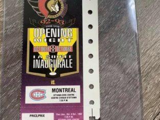 Ottawa Senators Opening Game – Oct 8, 1992