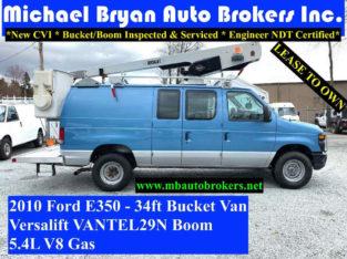 2010 FORD E350 – 34FT BUCKET VAN *VERSALIFT* GREAT PRICE