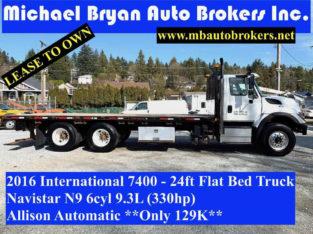 2016 INTERNATIONAL 7400 – 24FT FLAT BED TRUCK *NAVISTAR 330HP*