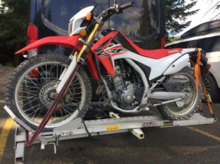 Honda CRF250L with hitch carrier