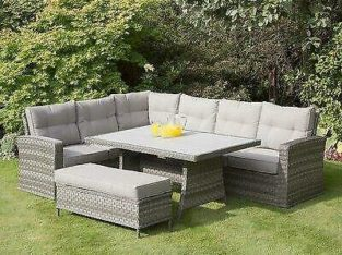 Latitude Run Taloga Corner 4 Piece Rattan Sectional Seating Group with Cushions Anniversary Sale (Up to 60% Off)