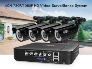 Protect your Property !!! Hiseeu CCTV 4CH 720P/1080P security Camera System, Free Fast Shipping