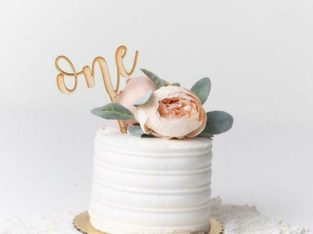 Custom Cake Topper – Personalized cake toppers – Wooden cake topper